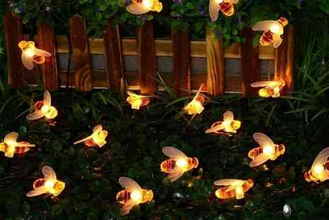 Groupon Goods Global GmbH - One, Two or Three Sets of Honey Bee Solar Lights - Save 0%