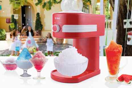 Groupon Goods Global GmbH - Vivo Retro Style Slushy Maker Machine Kit with Optional 500ml Pink Bubblegum, Blue Raspberry or Cola Syrup - Save 0%