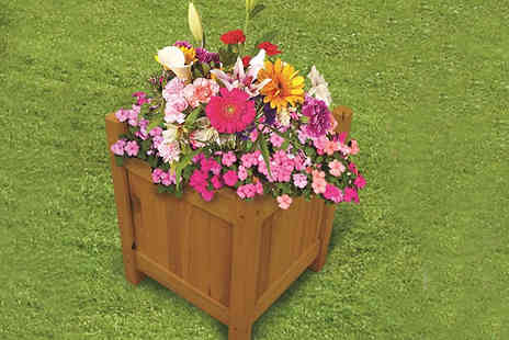Home Season - Wooden Garden Planters Choose from Three Sizes - Save 85%