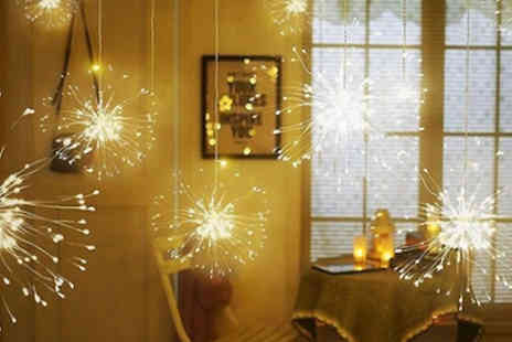 Yellogoods - Remote Control Starburst String Lights With Warm or White Light - Save 65%
