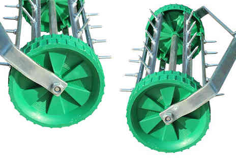 Mhstar - Adjustable Lawn Aerator Roller With Get a Luscious Lawn - Save 62%