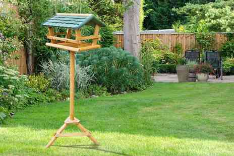 Zoozio - Wooden bird table - Save 62%