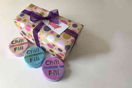 Bathtime Boutique - Three large Take A Chill Pill bath bombs - Save 58%