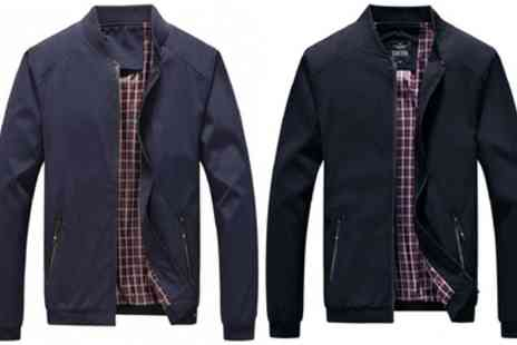 Groupon Goods Global GmbH - Mens Tartan Harrington Jacket - Save 63%