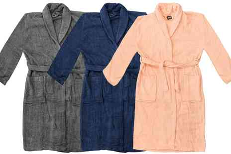 Groupon Goods Global GmbH - Unisex Soft Fleece Robe  - Save 0%