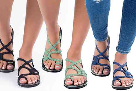 Groupon Goods Global GmbH - Rope Gladiator Sandals - Save 0%