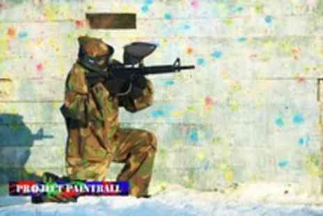 Project Paintball - Day of paintball for 1 incuding 100 paintballs each and lunch - Save 82%