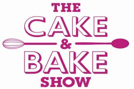 The Cake and Bake Show - One or two tickets from 4th To 6th October - Save 46%