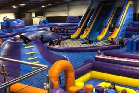 Jump Division - One Hour Inflatable Park Session for Up to Four - Save 22%