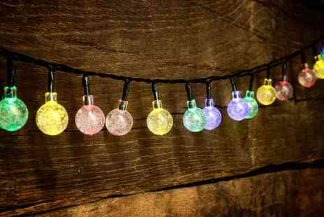 Groupon Goods Global GmbH - Globrite One, Two or Three Crystal Globe String Lights with 30 Led Bulbs - Save 0%