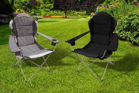 Eurotrade - Folding camping chair choose form 2 colours - Save 50%