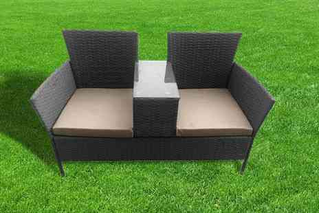 Gardening & Camping - Two person rattan garden seat - Save 0%