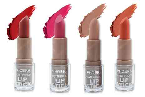Groupon Goods Global GmbH - One or Two Phoera Waterproof Non Stick Lipsticks - Save 0%