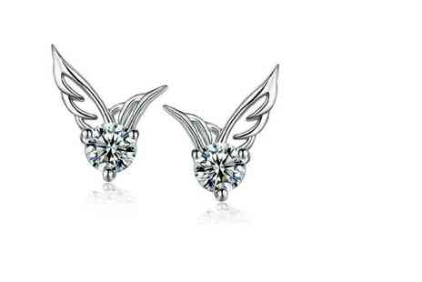 GetGorgeous - Angel wing stud earrings - Save 71%