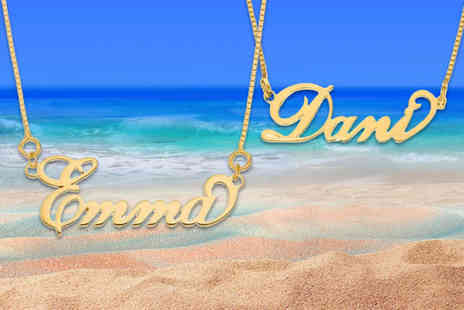 Optima Jewellery - Gold plated personalised name necklace - Save 62%