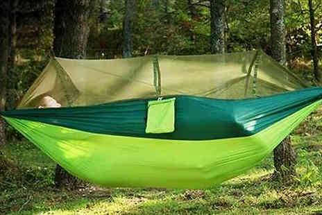 EClife Style - Portable Hammock with Mosquito Net Choose from Four Colours - Save 63%