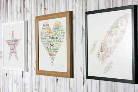 Your Perfect Canvas - 16 Inch x 16 Inch framed personalised wall art - Save 81%