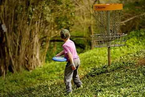 Mendip Activity Centre - Woodland Frisbee Golf Pass including Yeti Hunt for Up to Four - Save 49%