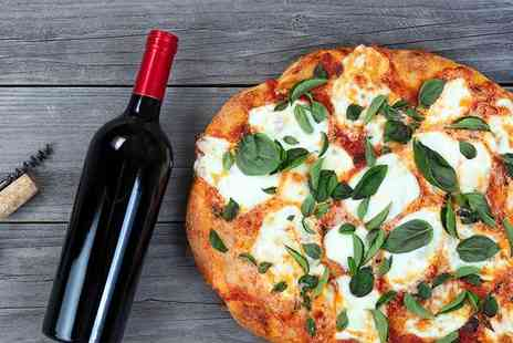 Hungry Turtle Pizzeria - Deep pan pizza each and a large glass of wine or pint of beer each for two people - Save 46%