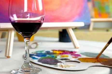 Vine & Canvas - Painting session with two glasses of wine or soft drink for one person - Save 32%