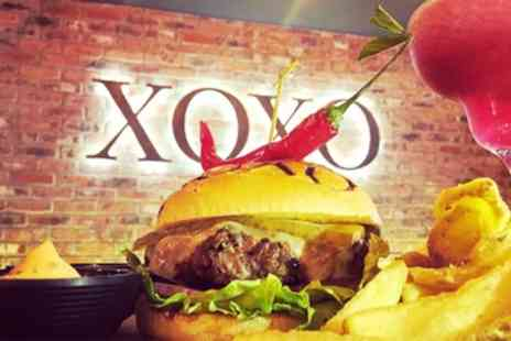 Xoxo Grill House - Choice of Burger with Drink for Up to Four - Save 36%