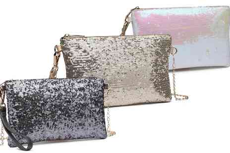 Groupon Goods Global GmbH - Womens Bling Sequin Clutch in Choice of Colour - Save 0%