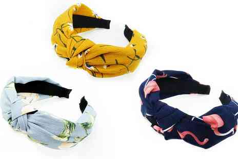 Groupon Goods Global GmbH - One or Two Cross Knot Hair Bands - Save 0%