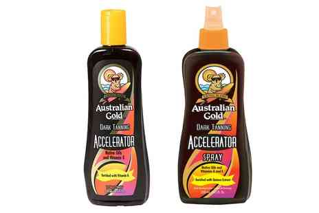 Groupon Goods Global GmbH - One or Two Australian Gold Dark Tanning Accelerator Lotions or Sprays - Save 0%