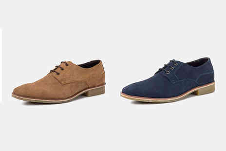 Redfoot - Pair of suede derby shoes choose from two colours - Save 75%