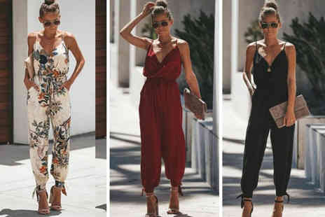 My Brand Logic - Casual backless jumpsuit - Save 67%