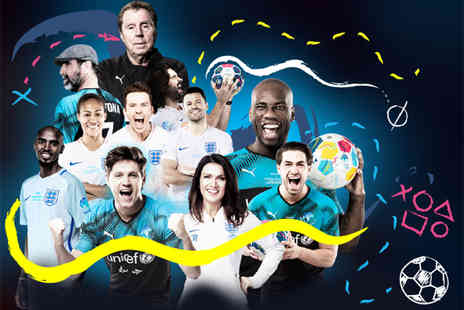 Soccer Aid - Child ticket for Unicef 2019 on 16th June see stars like Usain Bolt, Rita Ora, Mo Farah, Niall Horan and Harry Redknapp  - Save 17%