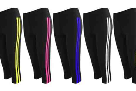 Groupon Goods Global GmbH - Womens Side Stripes 3 or 4 Leggings - Save 0%