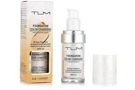 Groupon Goods Global GmbH - One or Two Bottles of TLM Magic Colour Changing 30ml Foundation Concealer - Save 0%