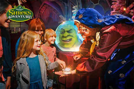 Shreks Adventure - Entry for one person to Shreks Adventure London experience this awesome and fully interactive family friendly attraction, meet your favourite characters - Save 40%