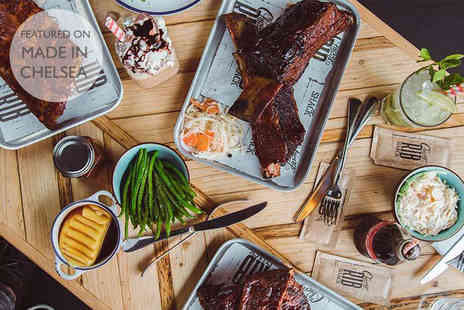 Chicago Rib Shack - Two course dining for two people with a glass of house wine, cocktail, half a pint of beer or a soft drink each - Save 67%