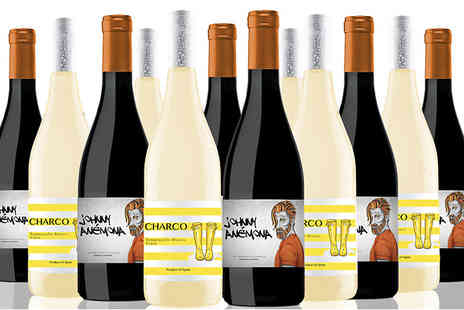 IBERVILLA FINE FOODS - 12 Bottles of Johnny Anémona and Charco Red and White Wines - Save 55%