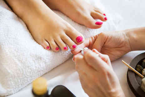 ZVOO Hair and Beauty - Shellac pedicure and toe wax - Save 50%