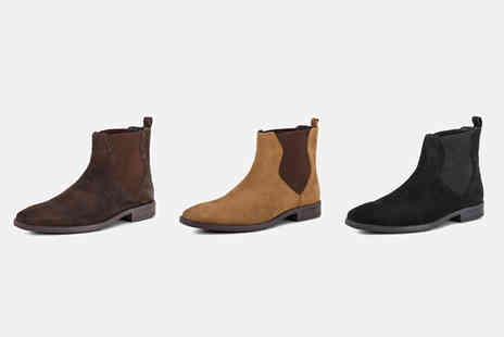 Redfoot - Pair of suede Chelsea boots choose from three colours - Save 78%