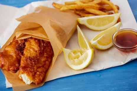 The Chippy Doon the Lane - Fish and Chips with Optional Bottle of Wine for Two or Four - Save 55%