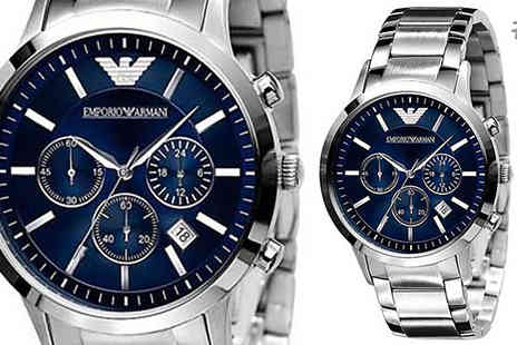 AW Watches - Emporio Armani Chronograph Watch for Men Available in Six Models - Save 70%