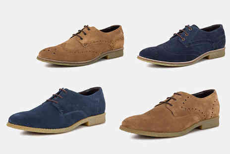Redfoot - Pair of suede desert brogues choose from three designs and colours - Save 78%