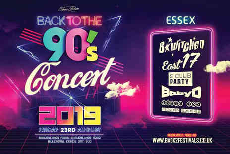 James Dean Events - Child ticket to Back to the 90s open air concert on Friday 23rd August - Save 57%