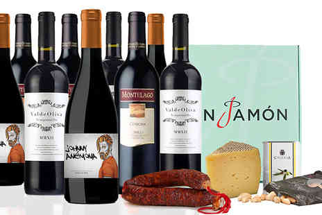 SanJamon - 13 Piece Spanish Salor Hamper Wine, Snacks and More - Save 50%
