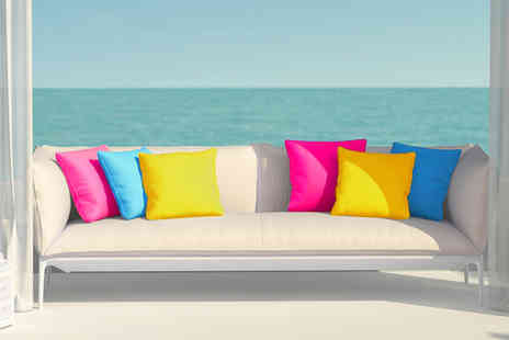 UK Beanbags - Set of three Island inspired outdoor cushions - Save 59%