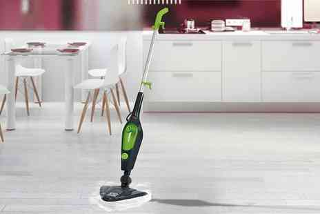 Groupon Goods Global GmbH - Easy Steam X10 10 in 1 1500W Multi Functional Steam Mop with 11 Piece Accessory Kit and Two or Seven Extra Mop Heads - Save 0%