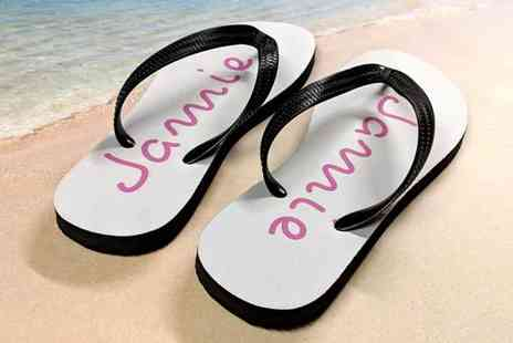 Your Perfect Canvas - Pair of Island inspired flip flops - Save 80%