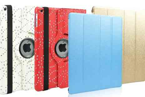 Groupon Goods Global GmbH - Diamante Rotating or Metallic Protective Cases for iPads - Save 0%