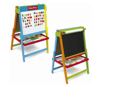 Eurotrade - Fisher Price two in one magnetic whiteboard and art easel - Save 50%