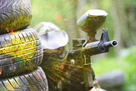 Hereford Paintball - Paintball Day for 5, 10 or 15 People with 100 Paintballs for Each - Save 93%