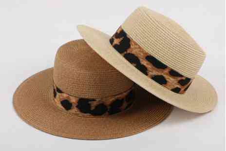 YelloGoods - Leopard straw hat choose from four colours - Save 83%